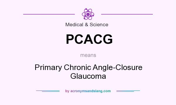 What does PCACG mean? It stands for Primary Chronic Angle-Closure Glaucoma