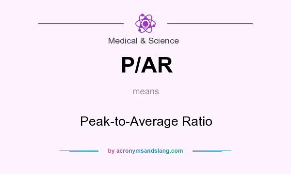 What does P/AR mean? It stands for Peak-to-Average Ratio