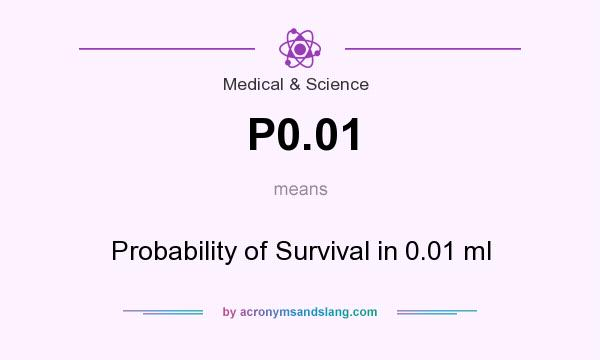 What does P0.01 mean? It stands for Probability of Survival in 0.01 ml
