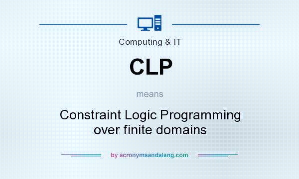 What does CLP mean? It stands for Constraint Logic Programming over finite domains
