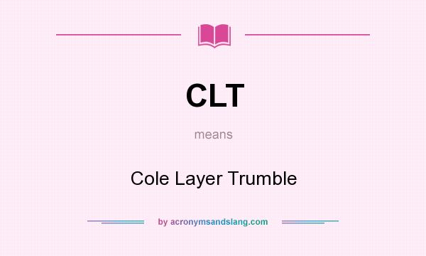 clt and its meaning