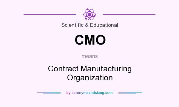 What does CMO mean? It stands for Contract Manufacturing Organization