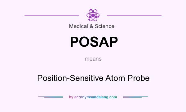 What does POSAP mean? It stands for Position-Sensitive Atom Probe
