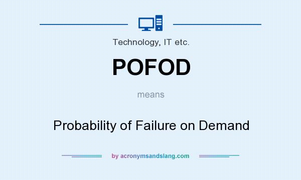What does POFOD mean? It stands for Probability of Failure on Demand