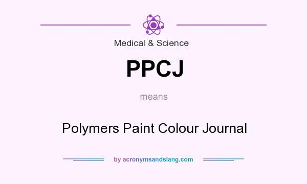 What does PPCJ mean? It stands for Polymers Paint Colour Journal