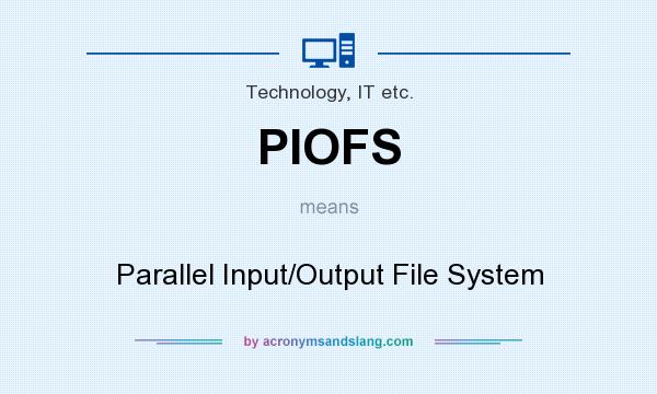 What does PIOFS mean? It stands for Parallel Input/Output File System