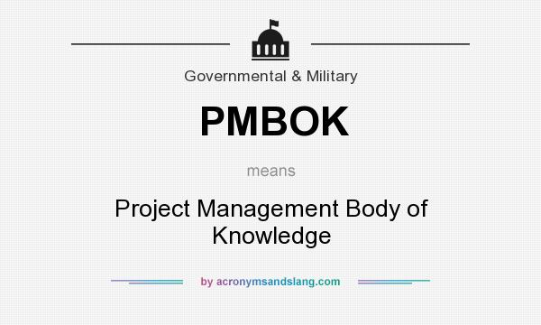 What does PMBOK mean? It stands for Project Management Body of Knowledge