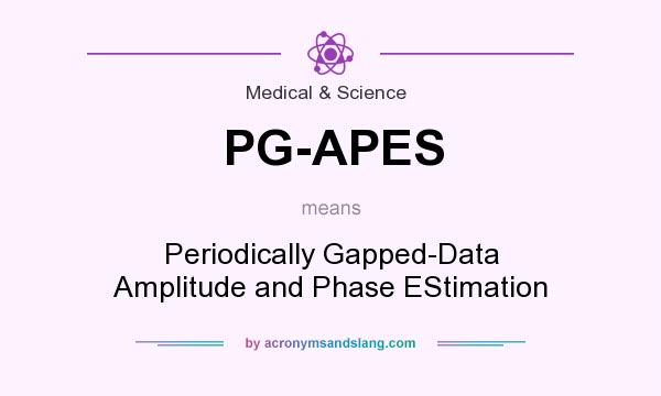 What does PG-APES mean? It stands for Periodically Gapped-Data Amplitude and Phase EStimation