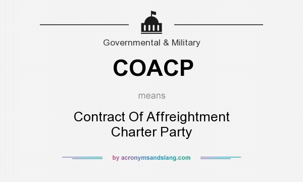 What does COACP mean? It stands for Contract Of Affreightment Charter Party