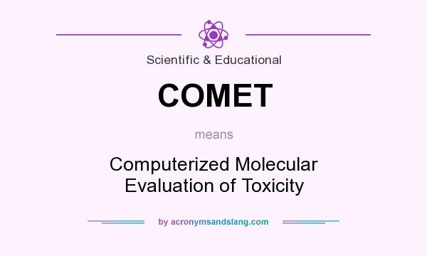 What does COMET mean? It stands for Computerized Molecular Evaluation of Toxicity