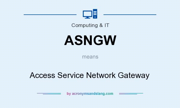 What does ASNGW mean? It stands for Access Service Network Gateway