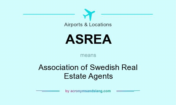 What does ASREA mean? It stands for Association of Swedish Real Estate Agents