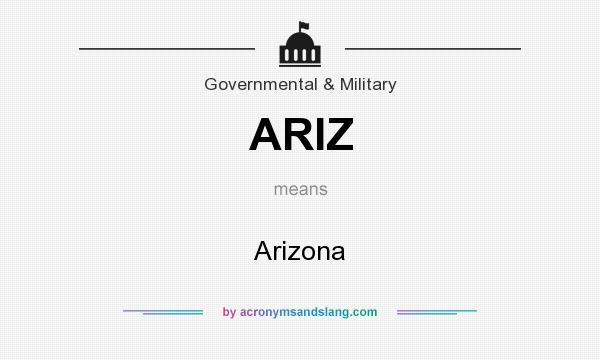 What does ARIZ mean? It stands for Arizona