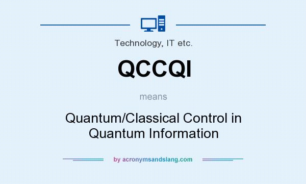 What does QCCQI mean? It stands for Quantum/Classical Control in Quantum Information
