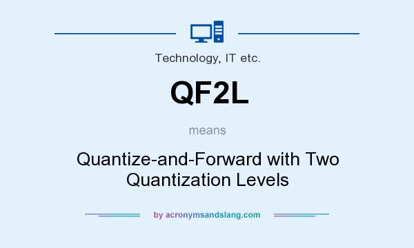 What does QF2L mean? It stands for Quantize-and-Forward with Two Quantization Levels