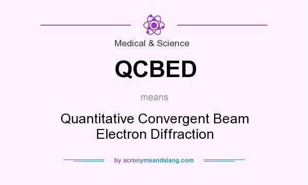What does QCBED mean? It stands for Quantitative Convergent Beam Electron Diffraction
