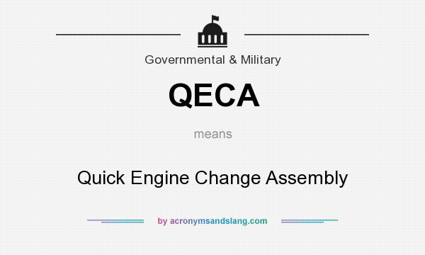 What does QECA mean? It stands for Quick Engine Change Assembly