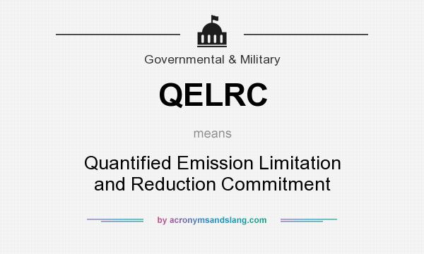 What does QELRC mean? It stands for Quantified Emission Limitation and Reduction Commitment