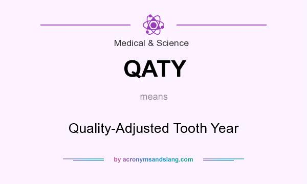 What does QATY mean? It stands for Quality-Adjusted Tooth Year