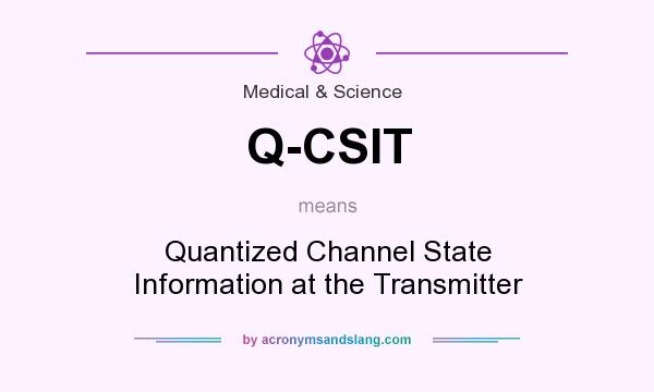 What does Q-CSIT mean? It stands for Quantized Channel State Information at the Transmitter
