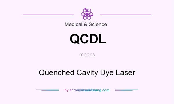 What does QCDL mean? It stands for Quenched Cavity Dye Laser