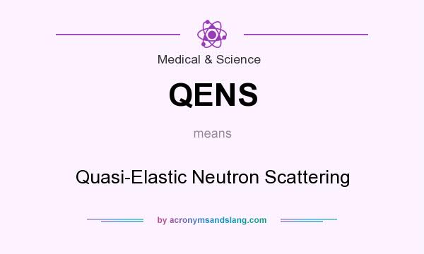 What does QENS mean? It stands for Quasi-Elastic Neutron Scattering