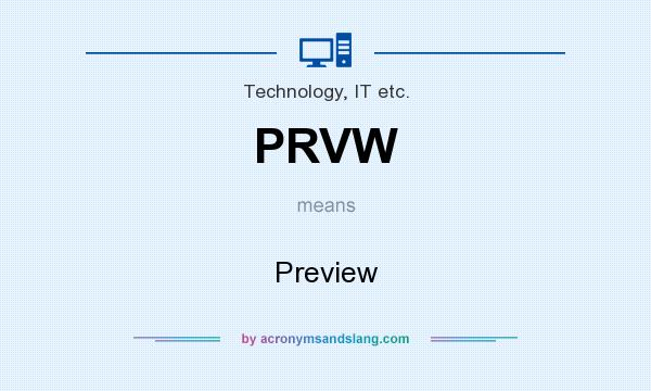 What does PRVW mean? It stands for Preview