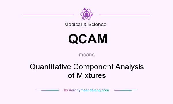 What does QCAM mean? It stands for Quantitative Component Analysis of Mixtures
