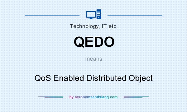 What does QEDO mean? It stands for QoS Enabled Distributed Object