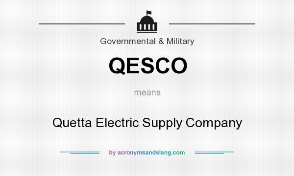 What does QESCO mean? It stands for Quetta Electric Supply Company