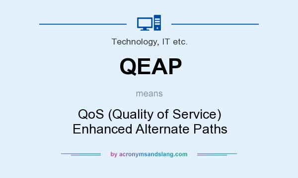 What does QEAP mean? It stands for QoS (Quality of Service) Enhanced Alternate Paths