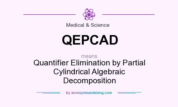 What does QEPCAD mean? It stands for Quantifier Elimination by Partial Cylindrical Algebraic Decomposition