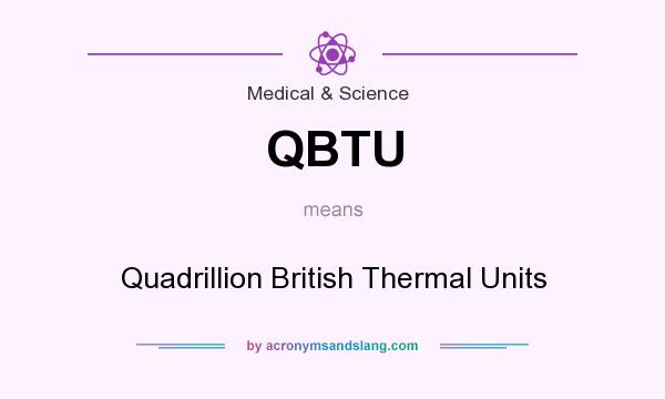 What does QBTU mean? It stands for Quadrillion British Thermal Units
