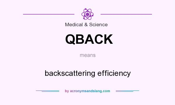What does QBACK mean? It stands for backscattering efficiency