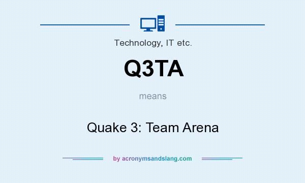 What does Q3TA mean? It stands for Quake 3: Team Arena