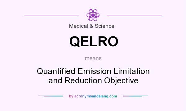 What does QELRO mean? It stands for Quantified Emission Limitation and Reduction Objective