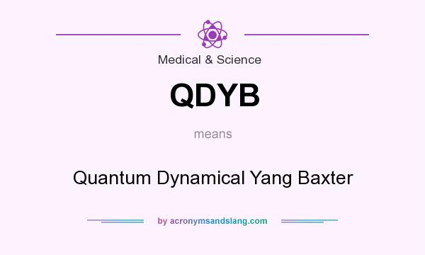 What does QDYB mean? It stands for Quantum Dynamical Yang Baxter
