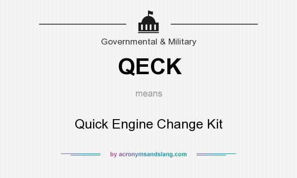 What does QECK mean? It stands for Quick Engine Change Kit
