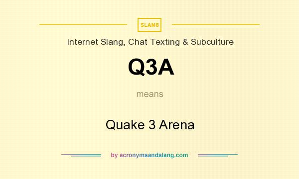 What does Q3A mean? It stands for Quake 3 Arena