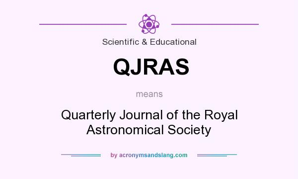 What does QJRAS mean? It stands for Quarterly Journal of the Royal Astronomical Society