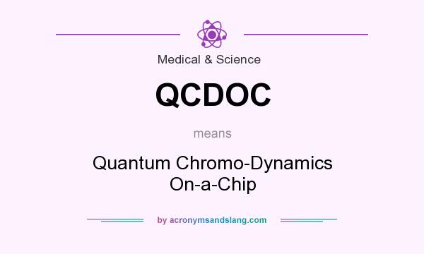 What does QCDOC mean? It stands for Quantum Chromo-Dynamics On-a-Chip
