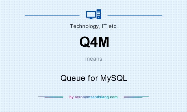 What does Q4M mean? It stands for Queue for MySQL