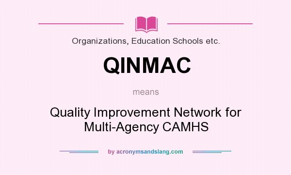 What does QINMAC mean? It stands for Quality Improvement Network for Multi-Agency CAMHS