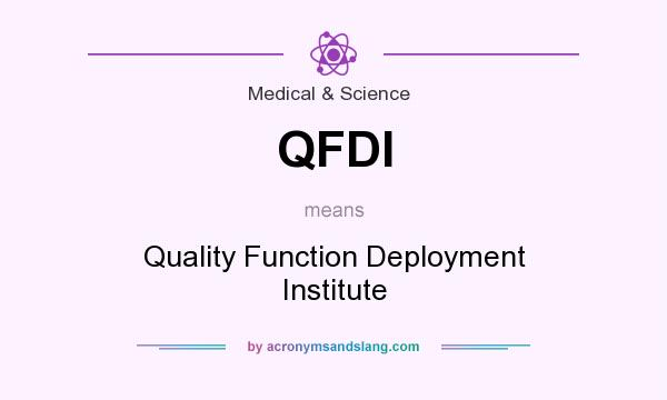 What does QFDI mean? It stands for Quality Function Deployment Institute