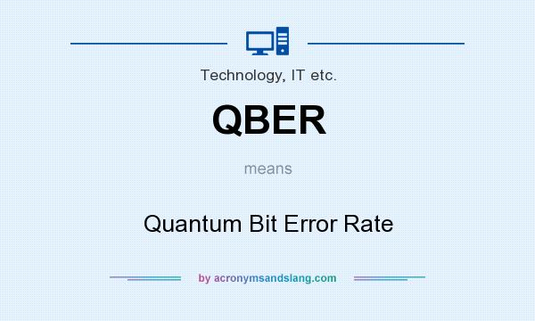 What does QBER mean? It stands for Quantum Bit Error Rate