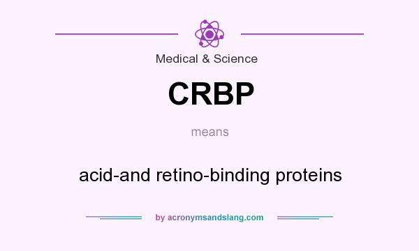 What does CRBP mean? It stands for acid-and retino-binding proteins