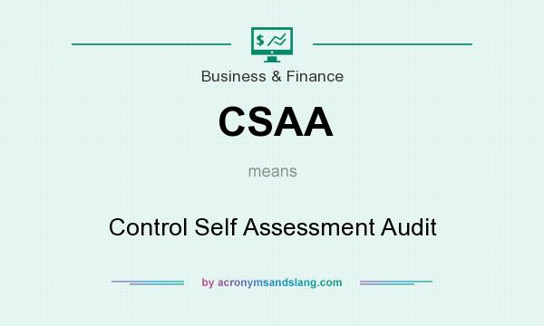 What does CSAA mean? It stands for Control Self Assessment Audit