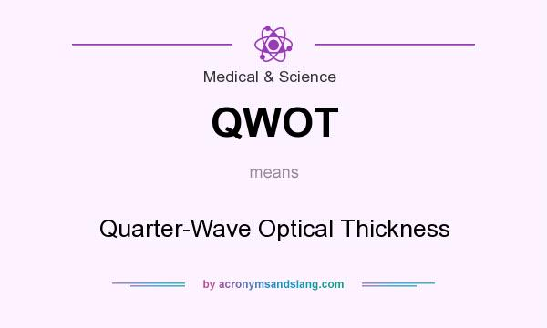What does QWOT mean? It stands for Quarter-Wave Optical Thickness
