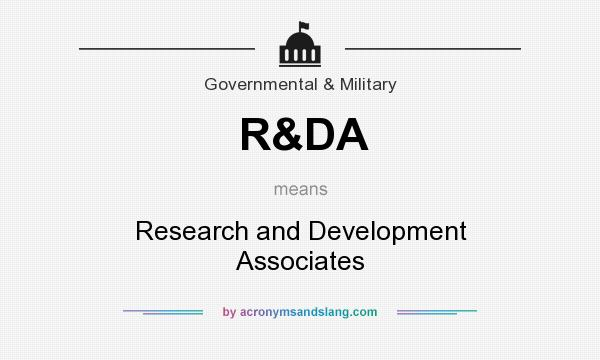 What does R&DA mean? It stands for Research and Development Associates