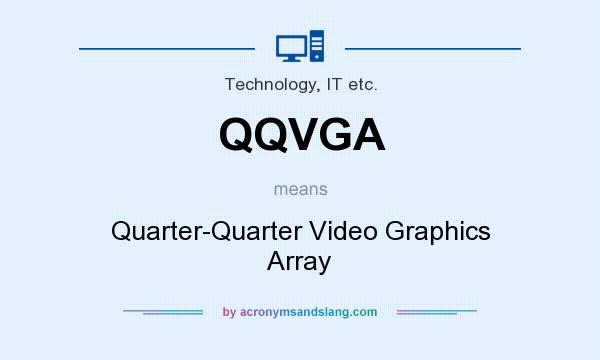 What does QQVGA mean? It stands for Quarter-Quarter Video Graphics Array